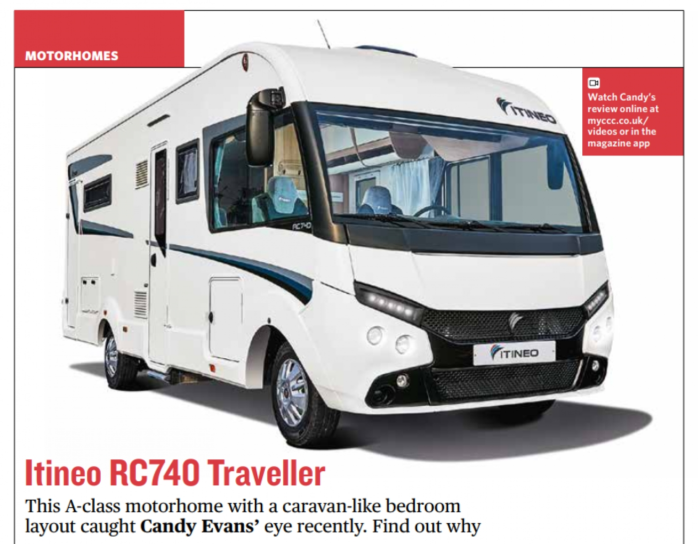 The ITINEO RC740 appears in the current issue of Camping